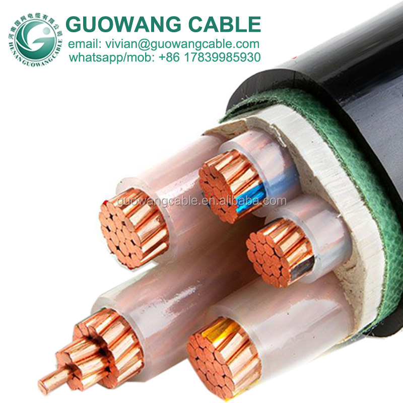 Xlpe Insulated Copper Cable Manufacturers YJV 120mm X 4 Core Triangle Shape