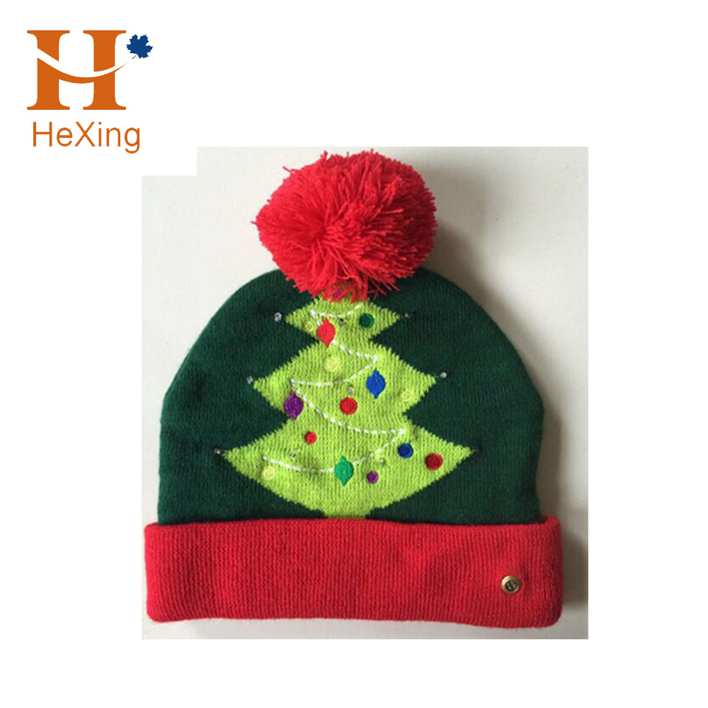 Christmas LED beanies kids LED knitted hat
