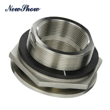 Stainless Steel 316 Bulkhead Tank Fitting NPT Threaded pipe fitting