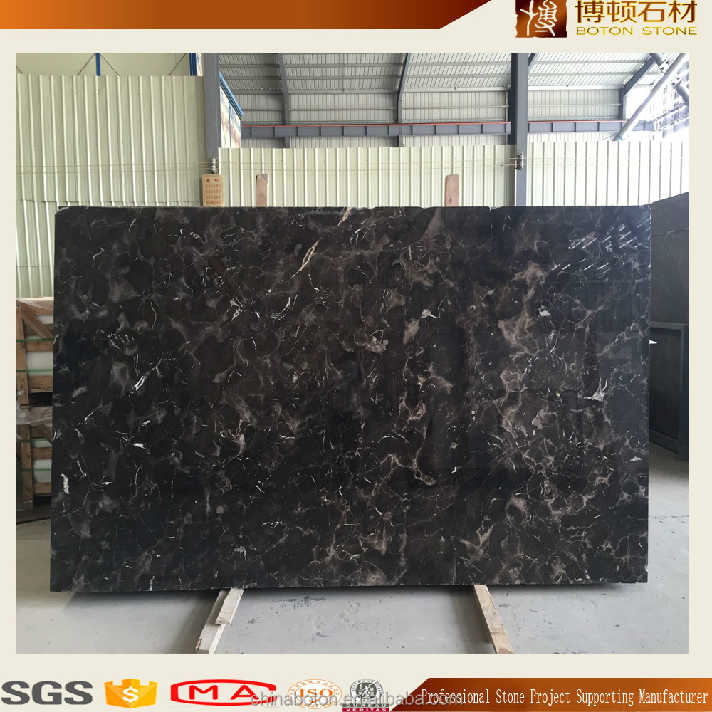 Factory direct brow marble stone,coffee color nature stone for big slabs