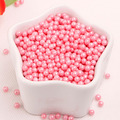Popular pink sugar pearls for cake decoration