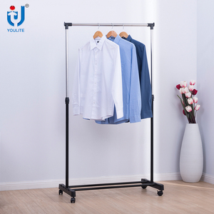 High Quality single pole easy moved stainless steel drying clothing rack