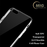 Ultra thin crystal transparent phone accessories cheap soft TPU cell phone back cover case for iphone 7 7 Plus