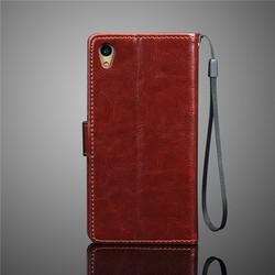 pu leather case flip case cover for sony xperia c4 leather phone case