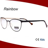 Super flexble stainless glasses frame with high quality, Fashion metal light weight branded eyeglasses