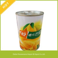 2016 Hot Sale Top Quality Fresh Natural Fruit Sliced Canned Mango