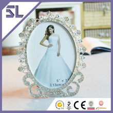 Picture Photo Frame Elegant Cobalt Blue Crystal Picture Frame for Wedding Decoration Made in China