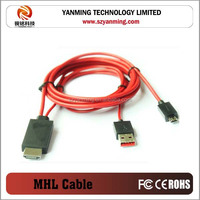1080p mhl to hdmi cable for smartphone samsung galaxy s3 i9300 /s4 /note 2/note 3