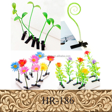 Fashion Kids Hair Accessories Fancy Cute Flower Plant Metal Alligator Bean Sprout Hair Clip
