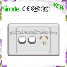 Australian Standard SAA Double Wall GPO Power Point Switch With Socket