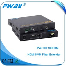 factory price Pinwei PW-THF109HKM HDMI KVM to Optic Fiber Converter Extender Support RS232