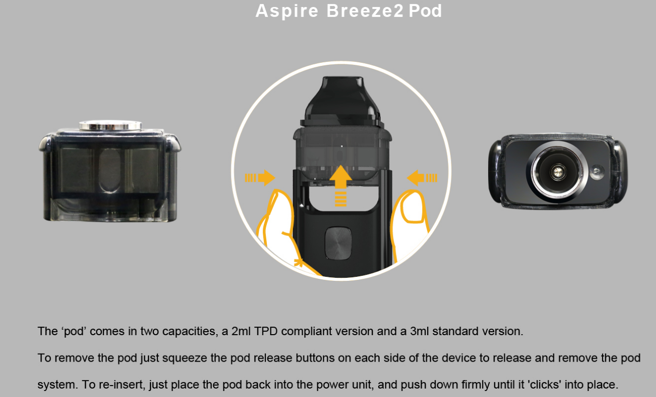 New Products Aspire Improved Filling Method Breeze2 AIO All In One device Aspire Breeze 2 AIO Kit