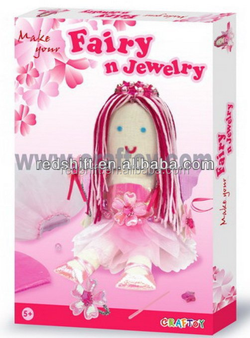 Art & craft Make your doll and jewelry Fairy kit