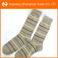 bulk wholesale business casual style stripes cotton men's socks