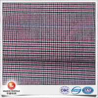 yarn dyed cotton stretch twill check fabric for making pants