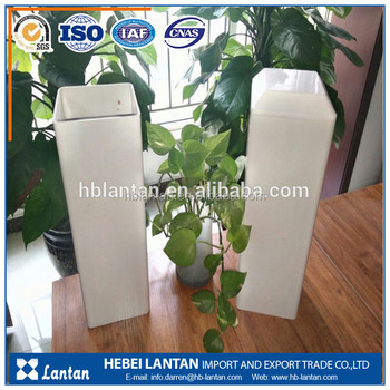 Custom PVC material rectangualr pipe for greenhouse Hydroponics plant