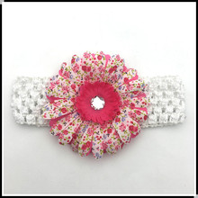 New baby large flower diamond headband children woven headband for kids