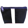 Black Airplane Compliant travel Toiletry Bag with zipper