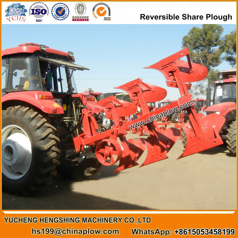 Agricultural machinery hydraulic reversible plough 6 mouldboard plough for tractors