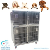stable pet hospital large cheap stainless steel animal kennel