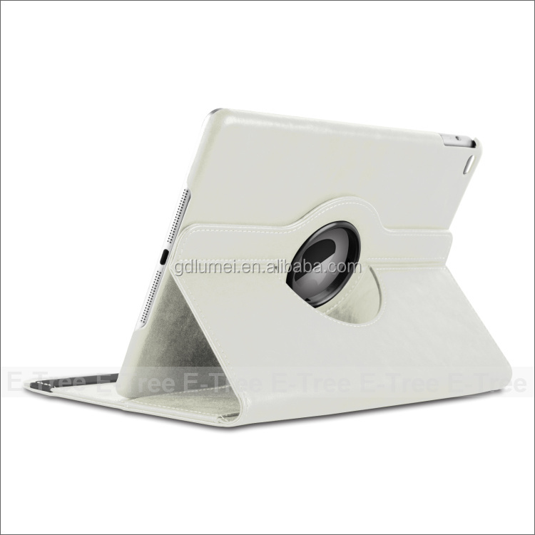 Luxury Stylish 360 Degree Rotating Stand Flip PU Leather Cover Protective Wallet Case For iPad 4 5 6, for changing pad cover