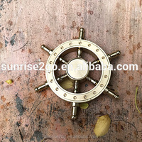 2017 608 606 Ceramic Bearing 4-6minutes EDC Hands Fingertip Toy Pure Copper + Brass Helmsman Fidget Spinner