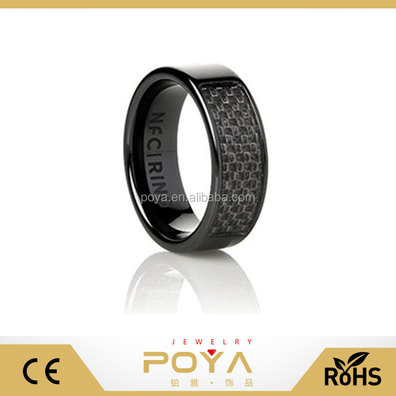 POYA Jewelry Eclipse Original Programmable NFC Smart Black Ceramic Ring
