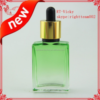 empty perfume bottle15ml/30ml gradient colored glass bottle glass dropper bottle childproof tamper evident cap