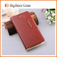 PU leather card holder flip for lenovo a706 leather case