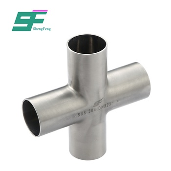 ShengFeng Food Grade stainless steel Welded Equal Tri Clamp Cross