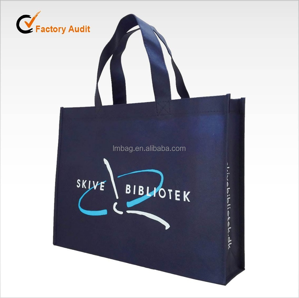 Silk printing cheap eco non woven shopping bag