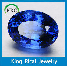 Oval shape faceted cut blue sapphire