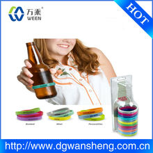 wholesale custom silicone bottle band for promotion
