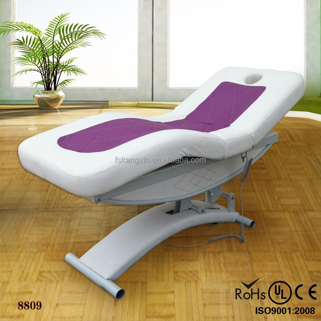 2015 High quality beauty salon furniture PU leather folding facial bed (KM-8809)
