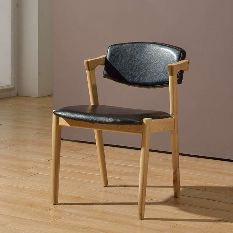 Modern Pu Leather Z Shape Dining Chair As Customized