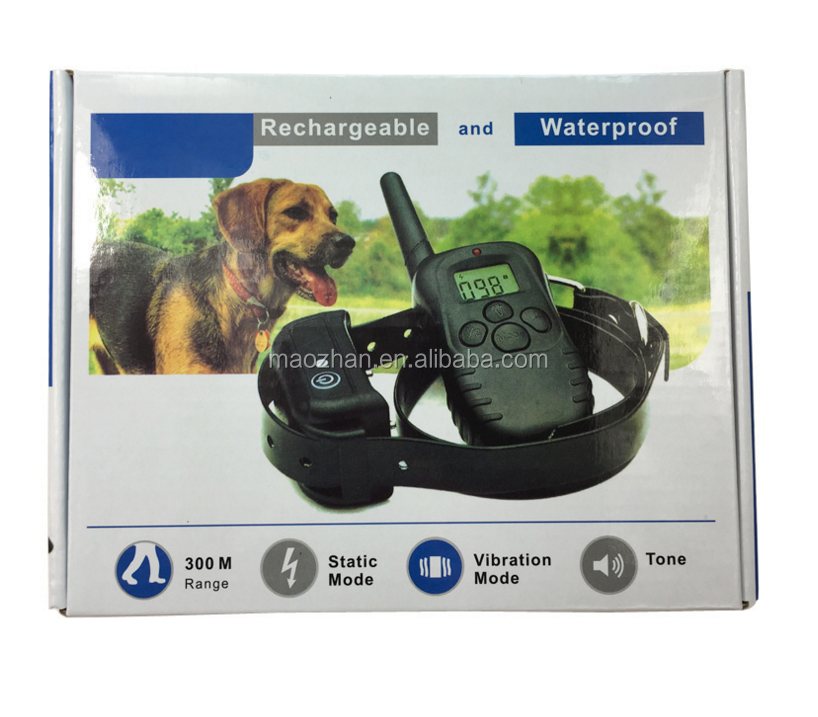 330 Yards Remote Control Pet Training Collar Rechargeable Dog Training Collar Electric Dog Train Shock Collar with LCD Display