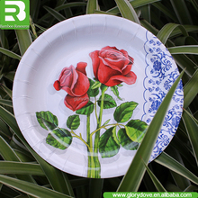China eco-friendly paper plates for pizza paper plates price