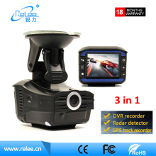 3 in 1 GPS radar detector with car dvr camera FHD 1080p laser speed camera detector