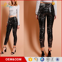 OEM wholesale new arrival slimming pencil high end fashion top design ladies jeans paillettes pants