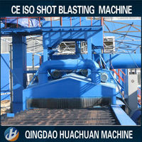 Multi-function steel plate shot blasting cleaning machine for removing rust
