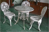 customized die casting aluminum/iron garden table and chairs