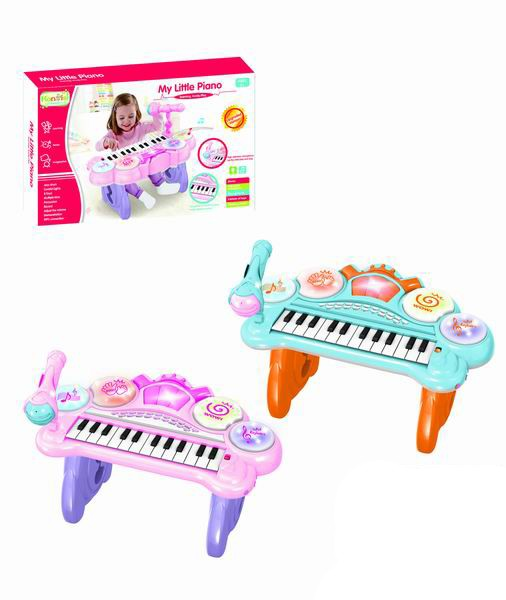 25 keys plastic grand piano with MIC
