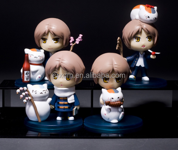 cute natsume anime figures/custom miniture anime action figure toys/OEM mini cartoon action figures maker