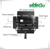 videGo cool write 5400K-5800K 40W NP-F 970/770/550 digital DV camera battery operated photo studio lighting