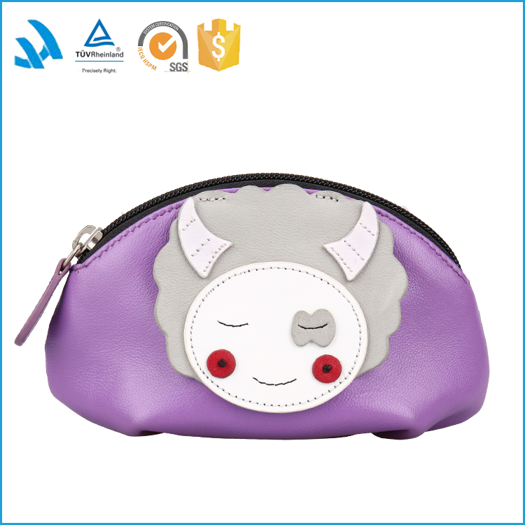 Hot sale women's pu small pouch , funny cosmetic bag handbags
