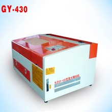 2015 Hot sale handcraft DIY best cost performance GY430 4030 40W 50w CO2 color laser 3d engraving machine crystal