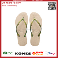 2016 new design flat plain rubber flip flops