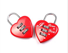 love heart shaped luggage lock,Valentine's day gifts lock ,Love three combination lock