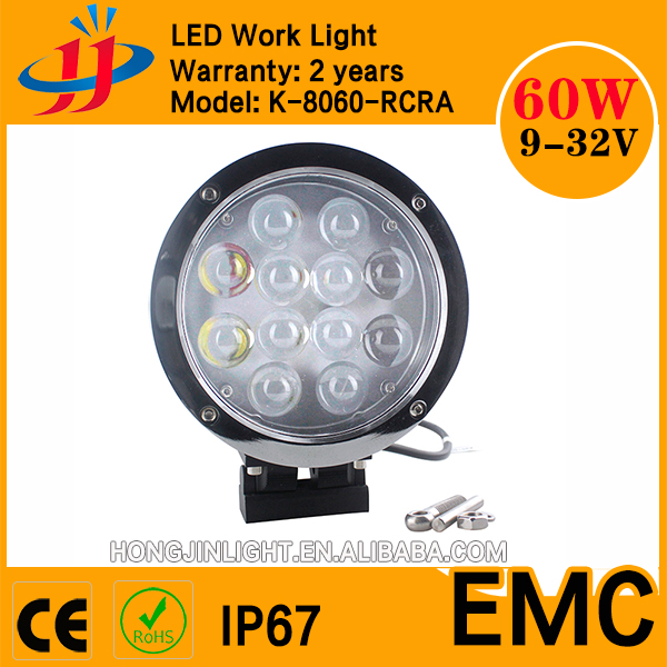 Super bright 8inch 60w Crees led working light for 4WD 12v off road spot light