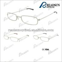Clear lens small face frame metal reading eyeglasses(RM360057)